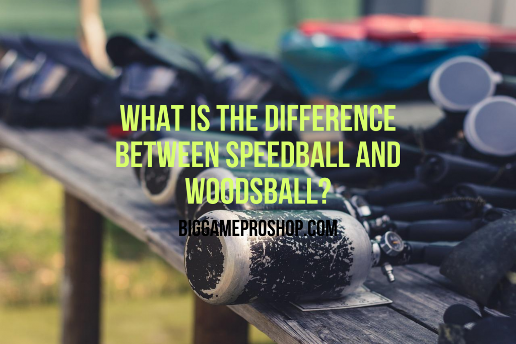 The Difference Between Speedball and Woodsball