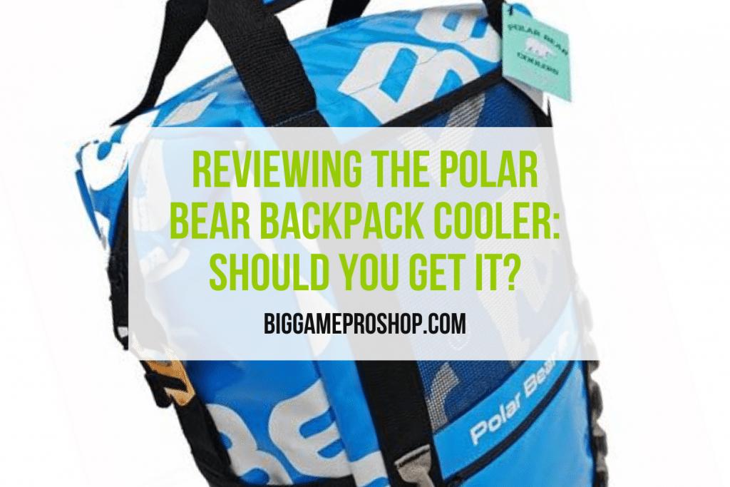 Polar Bear Backpack Cooler