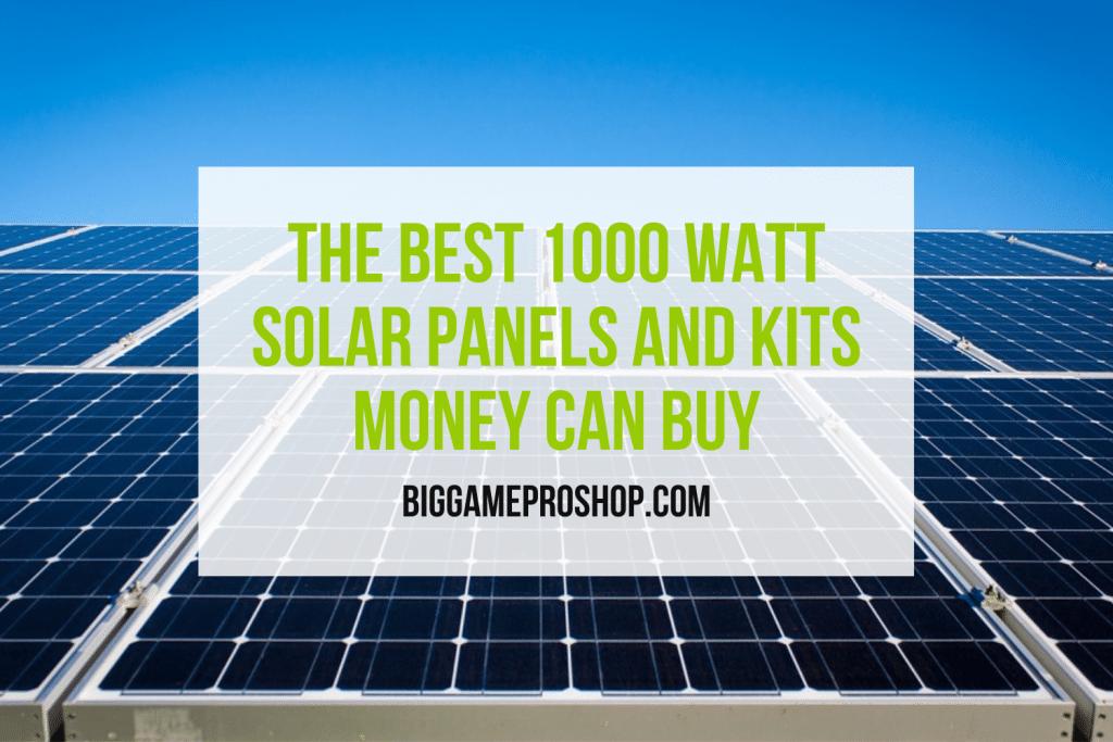 Best 1000 Watt Solar Panels and Kits